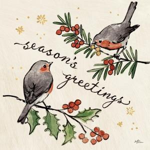 Christmas Lovebirds III by Janelle Penner