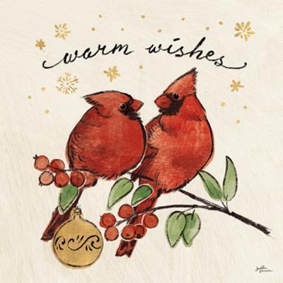Christmas Lovebirds IX by Janelle Penner