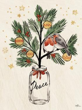 Christmas Lovebirds VI by Janelle Penner