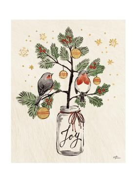 Christmas Lovebirds VII by Janelle Penner