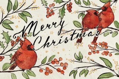 Christmas Lovebirds VIII by Janelle Penner