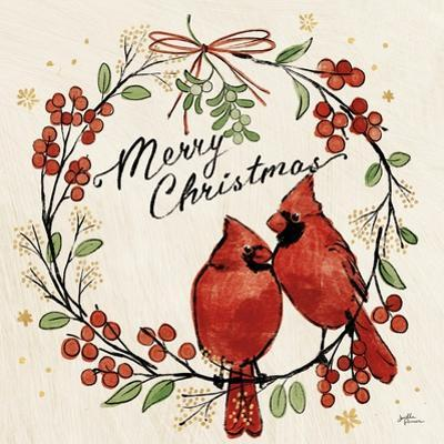 Christmas Lovebirds XII by Janelle Penner
