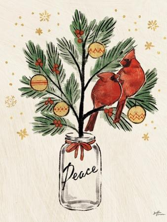 Christmas Lovebirds XIII by Janelle Penner