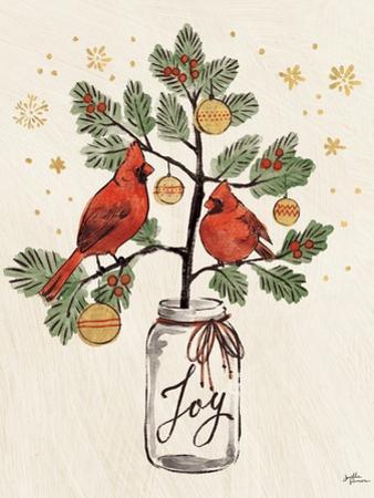 Christmas Lovebirds XIV by Janelle Penner