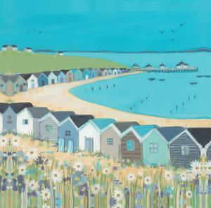 Beach Huts by Janet Bell