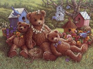Pansy, Daisy and Viola by Janet Kruskamp