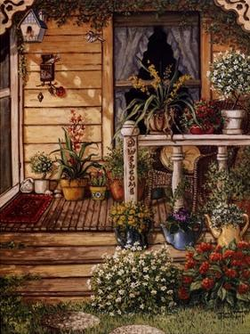 Summer Front Porch by Janet Kruskamp