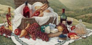 Tuscan Picnic by Janet Kruskamp