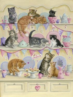 Kittens on Dresser by Janet Pidoux