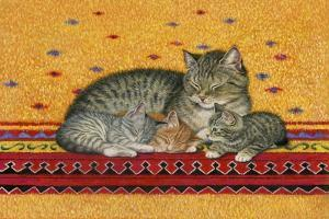 Mother and Kittens by Janet Pidoux
