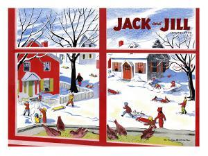 Winter Fun - Jack and Jill, January 1949 by Janet Smalley