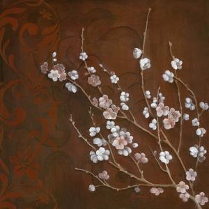 Cherry Blossoms on Cinnabar I by Janet Tava