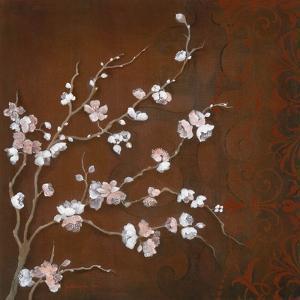 Cherry Blossoms on Cinnabar II by Janet Tava