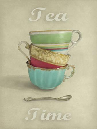 Vintage Tea I by Janie Secker