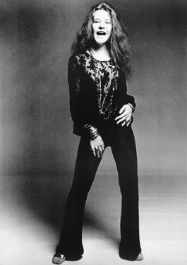 Janis Joplin Black and White Music Poster Print