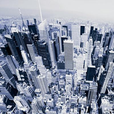 Aerial View of Manhattan-New York