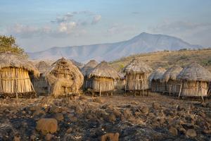 Africa, Ethiopia, Mago National Park, Mursi Tribe, Belle village. by Janis Miglavs