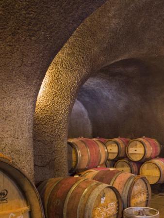 Barrels in Cellar at Long Meadow Ranch Winery, Ruthford, Napa Valley, California, USA