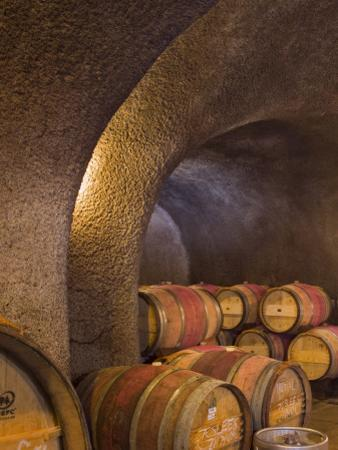 Barrels in Cellar at Long Meadow Ranch Winery, Ruthford, Napa Valley, California, USA by Janis Miglavs