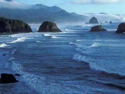 Coastline at Ecola State Park, Oregon Coast, USA
