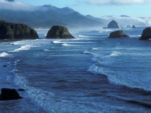 Coastline at Ecola State Park, Oregon Coast, USA by Janis Miglavs