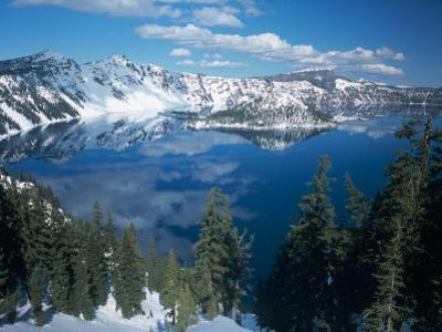 Crater Lake During a Cold Winter, Oregon, USA