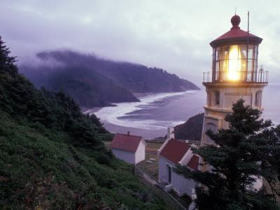 Foggy Day at the Heceta Head Lighthouse, Oregon, USA