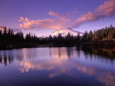 Mt. Hood Reflected in Mirror Lake, Oregon Cascades, USA
