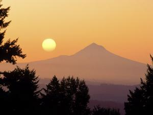 Sunrise Over Mt Hood, Portland, Oregon, USA by Janis Miglavs