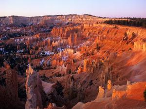 Sunset on Bryce Canyon, Utah, USA by Janis Miglavs