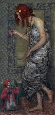 The Princess and the Monkey, 1913 by Janis Rozentals