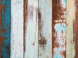 Colorful Wood Background by jannoon028