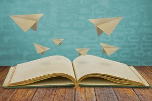 Magic Book with Paper Plane by jannoon028