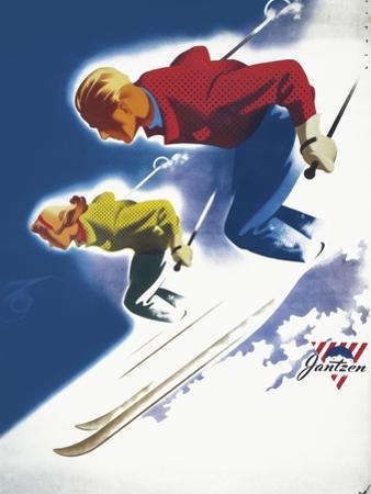 Jantzen by Binder Man and Women, Ski 1947
