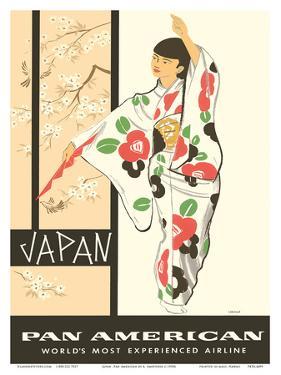Japan - Japanese Geisha Dancer in Kimono by A Amspoker