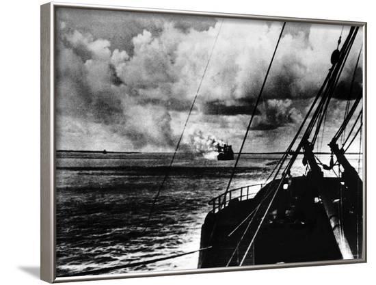 Japanese Air Raid on Port Darwin, 1942--Framed Photographic Print
