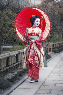 Japanese Geisha in Kyoto
