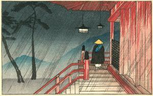 Japanese House in the Rain