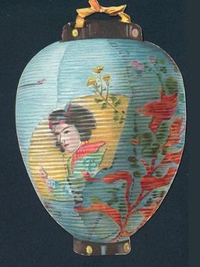 Japanese Lantern, Christmas Card