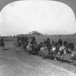 Japanese Military Transportation Train, Manchuria, 1906