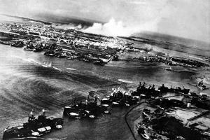 Japanese Photograph Taken During the Attack on Pearl Harbor