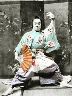 Kabuki Actor, 1901 by Japanese Photographer
