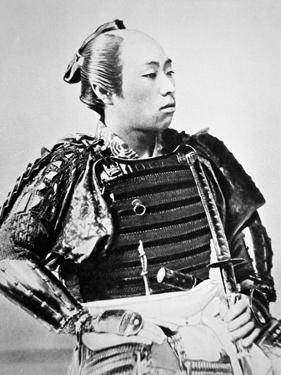 Samurai of Old Japan with Traditional Hairstyle by Japanese Photographer
