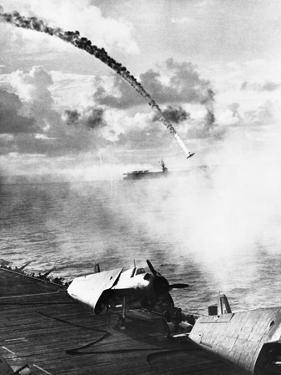 Japanese Plane Crashing in the Pacific