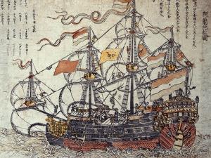 A Dutch Ship by Japanese School