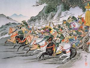 Battle of Shizugatake Pass 1583 by Japanese School