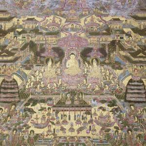 Depiction of Spiritual and Material Worlds by Japanese School