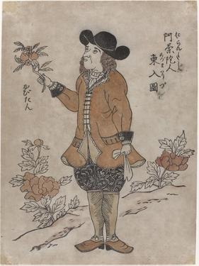 Dutch VOC employee in Nagasaki, c.1700 by Japanese School