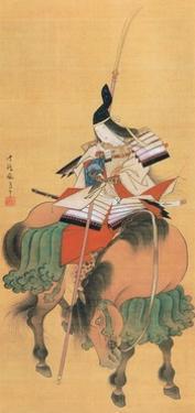 Female Samurai Warrior Tomoe Gozen by Japanese School