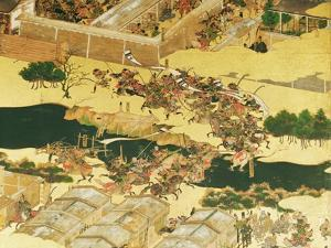 The Battle of Hogen from a Screen, Momayama Period by Japanese School